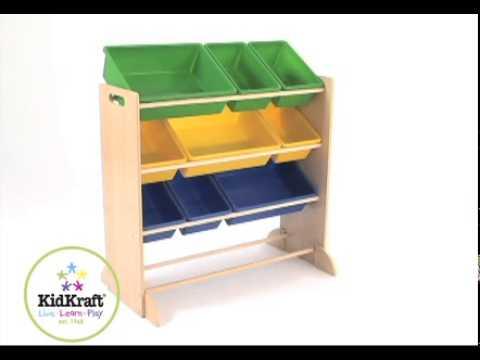 Opbergkast Sort it and Store it ( primaire kleuren) - Kidkraft - 16774