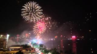 Pattaya New Year Fireworks 2013