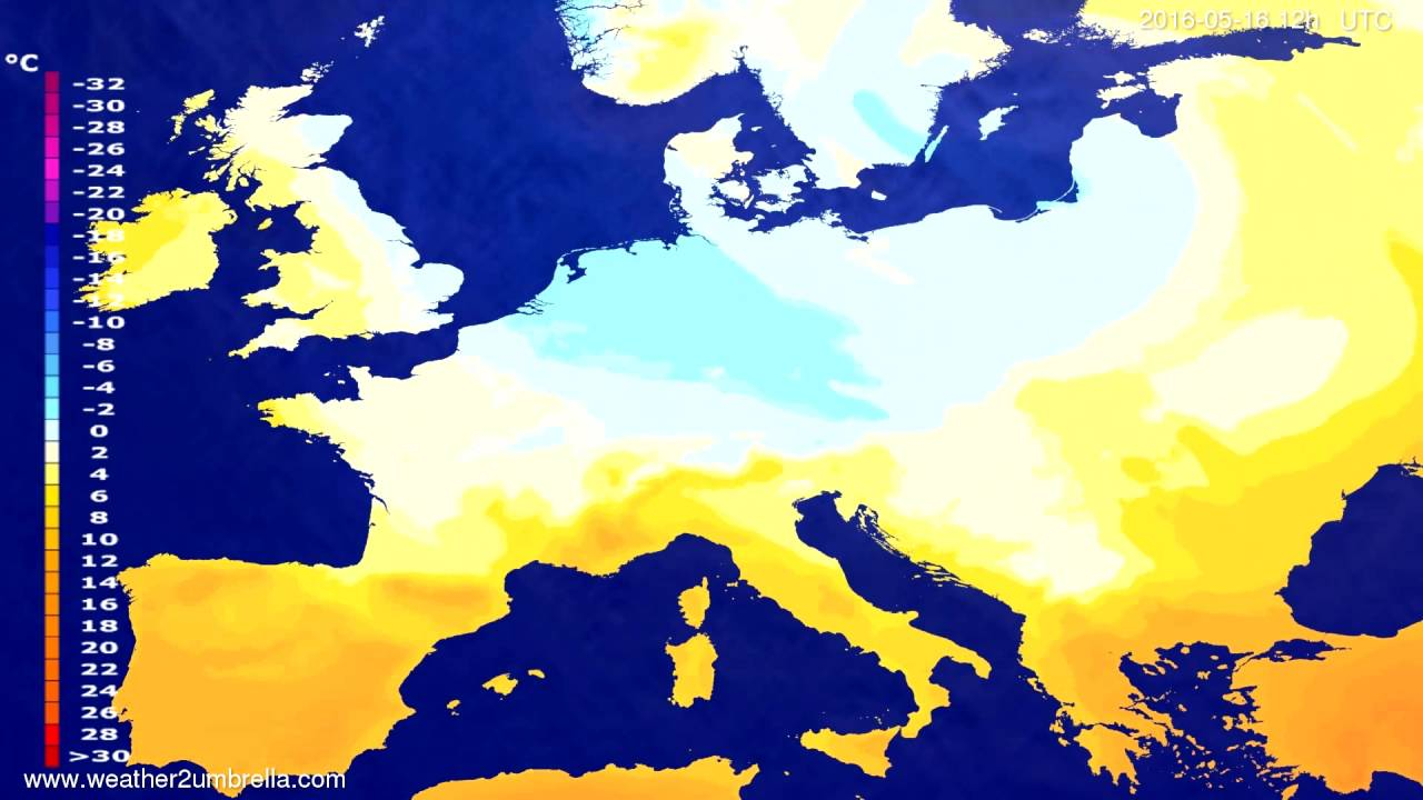 Temperature forecast Europe 2016-05-14