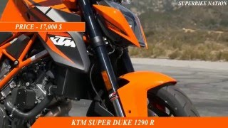 10. 2016 kawasaki z1000 vs 2016 ktm super duke 1290 r-specification