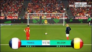 Video PES 2018 | FRANCE vs BELGIUM | Penalty Shootout | Hazard vs Griezmann | Gameplay PC MP3, 3GP, MP4, WEBM, AVI, FLV Agustus 2018
