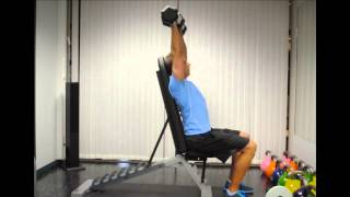 Exercise Index: Seated Shoulderpress with Dumbbells