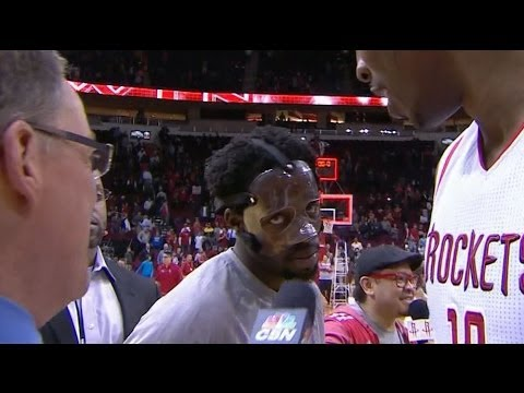 Patman Is Coming: Masked Pat Beverley videobombs Dwight Howard