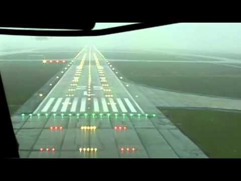 Cockpit View Landing Frankfurt Runway 25 L