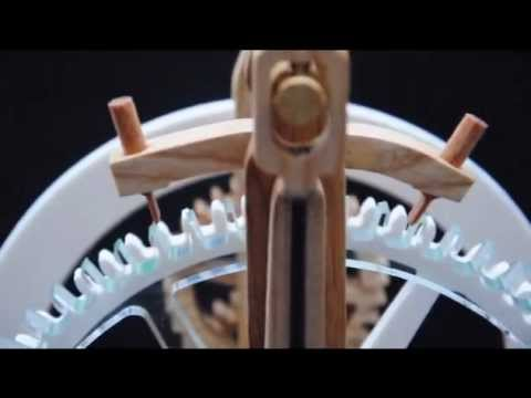 Brian Law - Video of clock 12 prototype. Full plans and dxf files athttp://www.woodenclocks.co.uk/