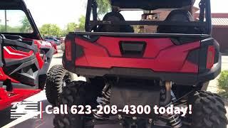 4. 2018 Polaris® General™ 1000 EPS Ride Command™ Edition Matte Sunset Red