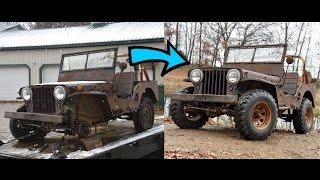 Video Reviving a dead Willys Jeep CJ2A MP3, 3GP, MP4, WEBM, AVI, FLV Juni 2019