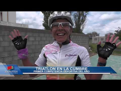 ESPECTACULAR COMPETENCIA DEPORTIVA: VIDEO ESPECIAL DEL TRIATLON LA CUMBRE