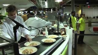 Video about the newest dining hall on campus