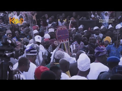 "Ooni Of Ife Offers Prayers With The  Oldest Ancient Crown ""Ade Aare""  At The Olojo Festival 2018"