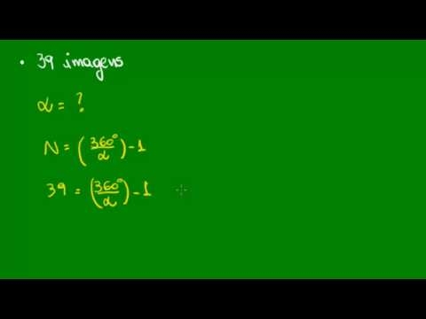 Imagens de reflexão - Imagens de um objeto entre dois espelhos - Aplicação da fórmula