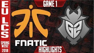 Video FNC vs G2 Highlights | EU LCS Spring 2018 S8 W2D2 | Fnatic vs G2 Esports Highllights MP3, 3GP, MP4, WEBM, AVI, FLV Juni 2018