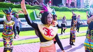 Meriahkan HUT RI Ke-72, Goyang Senam Maumere Getarkan Mako Polda Kaltim