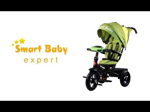 Купить Трехколесный велосипед Smart Baby TS1 Складной Бежевый в Москве
