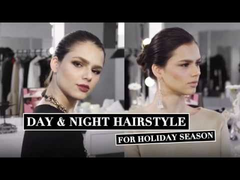 Easy Day & Night Hairstyle Tutorial for Holiday Season