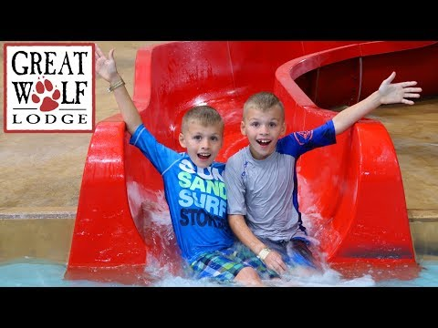 Great Wolf Lodge Indoor Waterpark Playground (видео)