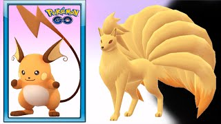 Ninetales & Pikachu (Raichu) Evolution Completed - Pokemon Go