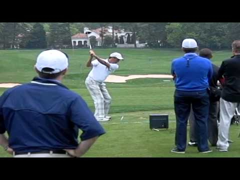 Stephen Ames on trackman with Sean Foley at Quail Hollow