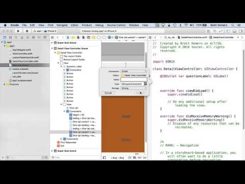 Learn To Build Your First Professional iOS App - Iboutlets and Action for Buttons