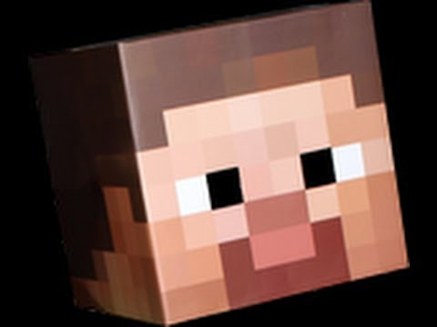 How to Make a Minecraft Costume Steve's Head EASY!!