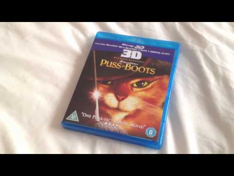 Puss in boots 3D Blu-ray unboxing
