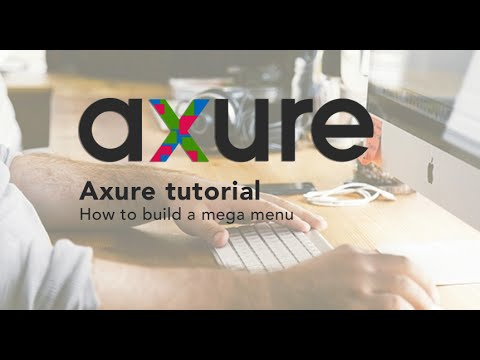 Axure RP tutorial for beginners: 05 Creating website Mega Menu