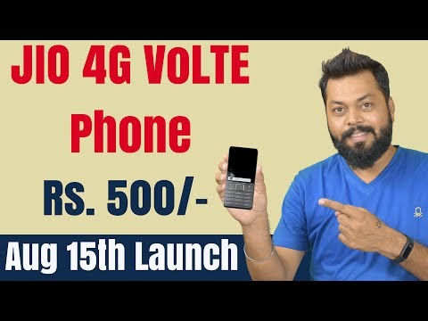 JIO LATEST NEWS: Rs.500 4G VoLTE PHONE, Aug 15 LAUNCH  [in Hindi]