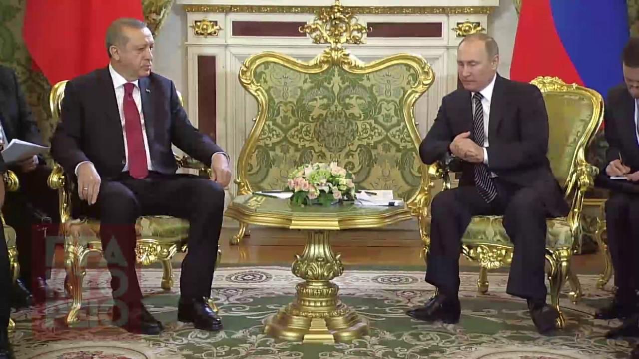 Συνάντηση Βλαντιμίρ Πουτιν με τον Ρετζέπ Ταγίπ Ερντογάν