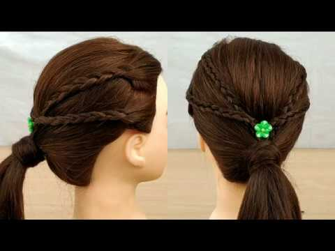 Hairstyles for short hair - Beautiful hairstyle for medium hair  A Simple hairstyle for everyday