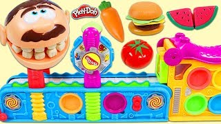 Video Feeding Mr. Play Doh Head Toy Velcro Food Made From Magic Mega Fun Factory! MP3, 3GP, MP4, WEBM, AVI, FLV Maret 2018