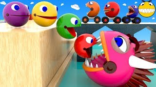 Video Pacman Colors Learning for Kids Children Toddlers Baby Monster Packman Wheels Colours Video 3D MP3, 3GP, MP4, WEBM, AVI, FLV Mei 2019