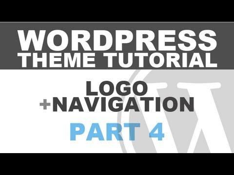 Responsive WordPress Theme Tutorial – Part 4 – Logo and Navigation Menu