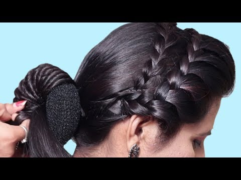 Last Minute Hairstyles for party/wedding/Work  Side braid hairstyles  hairstyles 2018