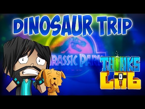 Minecraft Mods: Think's Lab - Visiting Jurassic Park - Paleocraft Dinosaurs!