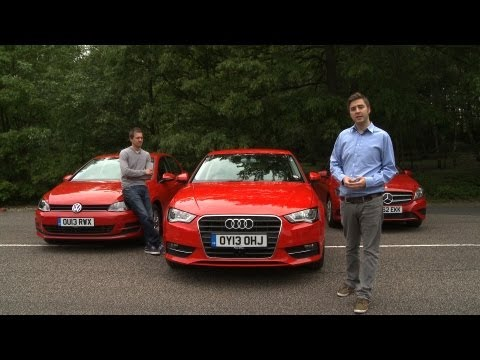 2013 Audi A3 vs Mercedes A-Class vs VW Golf Group Test – What Car?