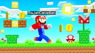 Playing MINECRAFT As Super Mario! (epic world)