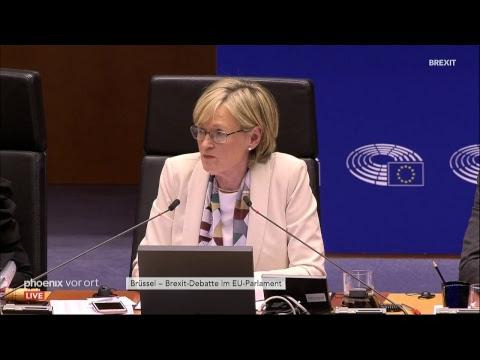 Debatte im EU-Parlament in Brüssel zum Brexit am 03.0 ...