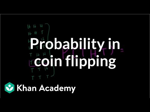 at least - Learn more: http://www.khanacademy.org/video?v=mkyZ45KQYi4 Probability of getting at least one heads in multiple flips of a fair coin.