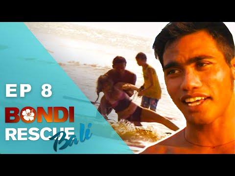 Husband Pushes Wife Underwater During Rescue | Bondi Rescue: Bali - Episode 8 (FULL Episode)