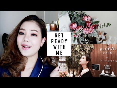 GET READY WITH ME | VLOG แต่งหน้าสีชมพู + ไปคาเฟ่ดอกไม้