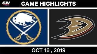 NHL Highlights | Sabres vs Ducks – Oct 16 2019 by Sportsnet Canada