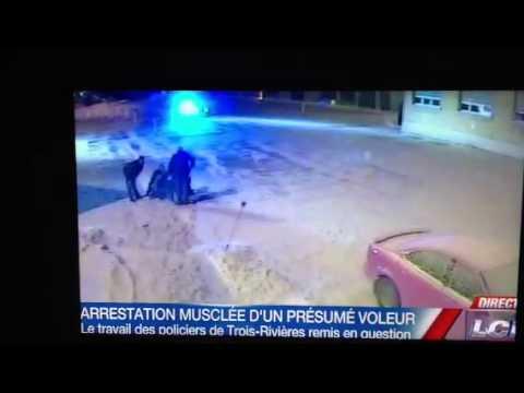 Violence gratuite de la police lors d'une arrestation