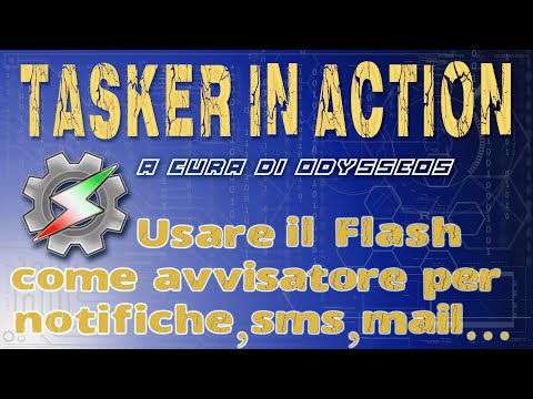 Usare il flash della fotocamera come avvisatore luminoso di notifiche, sms, email...