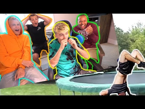 REACTING TO BAD TRAMPOLINE FAILS 3!!