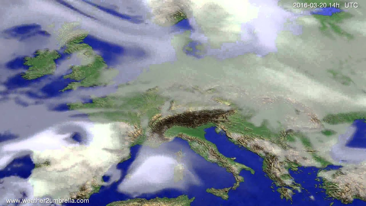 Cloud forecast Europe 2016-03-16