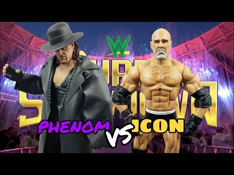 WWE UNDERTAKER VS GOLDBERG ACTION FIGURE MATCH | SUPER SHOWDOWN 2019
