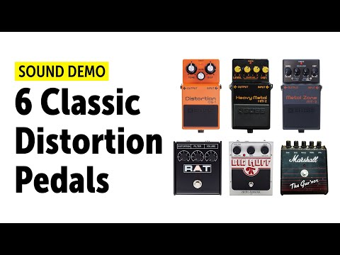 6 Classic Distortion Pedals And How They Sound - Audio Comparison (no talking)