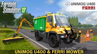 Unimog U400– Selection of motor power– Color selection– Selection of front loader– Hydraulic front and rear hydraulics– Passenger– Saddle plate– Dirt …Developer website FS 17 - http://www.farming-simulator.comWebsite mods - https://www.modsgaming.usFS 17 fan group facebook - https://www.facebook.com/groups/FarmingSimulatorMods/FS 17 fan group VK - https://vk.com/farming_simulator_2013_gamePlaylist FS 17 - https://www.youtube.com/playlist?list=PL54hHM4RuNpdwE1PKqLxgb5r59byxQTolLink Mod UNIMOG U400 - https://www.modsgaming.us/load/farming_simulator_2017/fs_17_trucks/unimog_u400_v_1_0/14-1-0-1178Link Mod FERRI HYDRAULIC REACH MOWER - http://www.farming2017mod.com/ferri-tractor-ls-17/Link Map HOLLANDSCHE FLACHEN - https://www.modsgaming.us/load/farming_simulator_2017/fs_17_maps/hollandsche_flachen_v1_0_0_1/28-1-0-1205Authors mod: Tackleberry, Alex2009, Ifko (nator), HoFFi / Rille/Lantmanen FS FS17Link original - http://www.farming2017mod.com/ferri-tractor-ls-17/