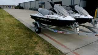 8. Pair of 2010 Kawasaki STX15F JetSkis! Sold!