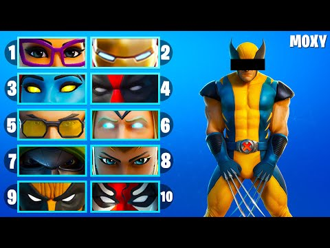 Guess The Fortnite Skin BY THE EYES #2 - Fortnite Challenge By Moxy